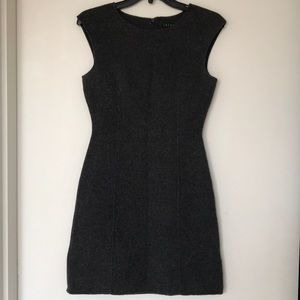 Theory dark grey heather mini structured dress